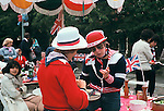Silver Jubilee street party 1977. Hampstead north London UK.