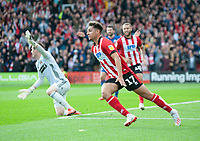 Lincoln City's Tyler Walker celebrates scoring the opening goal<br /> <br /> Photographer Andrew Vaughan/CameraSport<br /> <br /> The EFL Sky Bet League One - Lincoln City v Sunderland - Saturday 5th October 2019 - Sincil Bank - Lincoln<br /> <br /> World Copyright © 2019 CameraSport. All rights reserved. 43 Linden Ave. Countesthorpe. Leicester. England. LE8 5PG - Tel: +44 (0) 116 277 4147 - admin@camerasport.com - www.camerasport.com