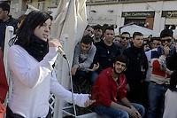 Roma 8 Novembre 2012.Cinecittà.Corteo delle scuole del quartiere contro i tagli alla scuola pubblica, l'austerità  e il ddl 953 (ex aprea)