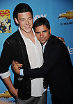 "HOLLYWOOD, CA. - September 07: Cory Monteith and John Stamos attend the ""Glee"" Season 2 Premiere Screening And DVD Release Party at Paramount Studios on September 7, 2010 in Hollywood, California."