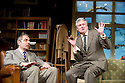 Quartermaine's Terms by Simon Gray, directed by Richard Eyre. With Rowan Atkinson as St John Quartermaine, Conleth Hill as Henry Windscape. Opens at Wyndams Theatre  on 29/1/13. CREDIT Geraint Lewis