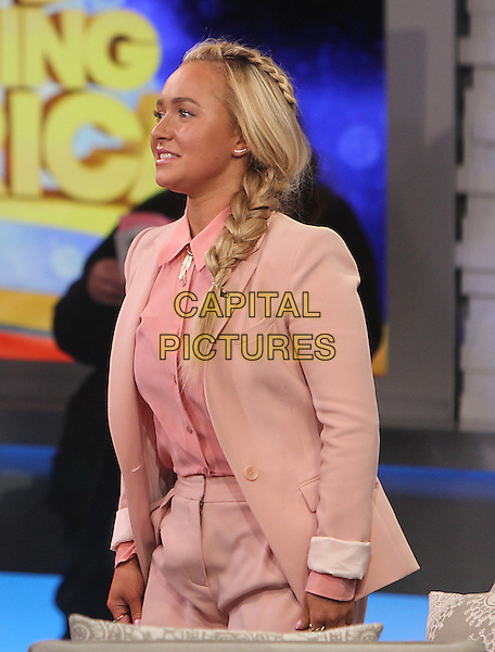 NEW YORK, NY- APRIL 20: : Hayden Panettiere at Good Morning America promoting the current season of Nashville on April 20, 2015 in New York  City. <br /> CAP/MPI/RW<br /> &copy;RW/MPI/Capital Pictures