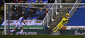 31st October 2017, Madejski Stadium, Reading, England; EFL Championship football, Reading versus Nottingham Forest; Jordan Smith of Nottingham Forest saves the shot from David Edwards of Reading