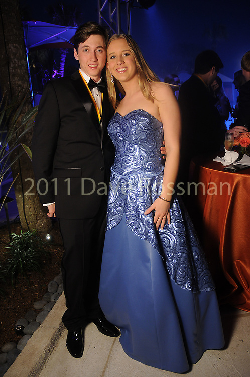 "Lauren Hogan and Garrett Moughon at the San Luis Salute ""Hollywood Dinner Club"" in Galveston Friday Feb. 09,2018. (Dave Rossman Photo)"