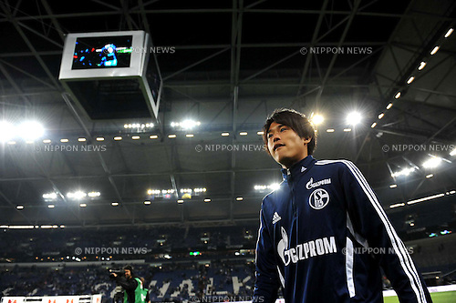 Atsuto Uchida (Schalke),JULY 23, 2011 - Football / Soccer :Atsuto Uchida of Schalke after winning the 2011 Supercup match between FC Schalke 04 0(4-3)0 Borussia Dortmund at Veltins Arena in Gelsenkirchen, Germany. (Photo by AFLO)