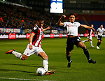George Baldock of Sheffield Utd crosses from the touchline during the Championship match at the Macron Stadium, Bolton. Picture date 12th September 2017. Picture credit should read: Simon Bellis/Sportimage