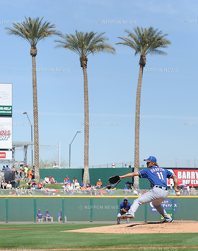 Yu Darvish (Rangers),.MARCH 13, 2012 - MLB :.Yu Darvish of the Texas Rangers pitches during a spring training game against the Cleveland Indians at Goodyear Ballpark in Goodyear, Arizona, United States. (Photo by AFLO)
