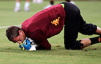 AS Roma goalkeeper Maarten Stekelenburg, of the Netherlands, warms up prior to the start of an Europa League preliminary second leg football match between AS Roma and SK Slovan Bratislava, at Rome's Olympic stadium, Roma, 25 august 2011..UPDATE IMAGES PRESS/Riccardo De Luca