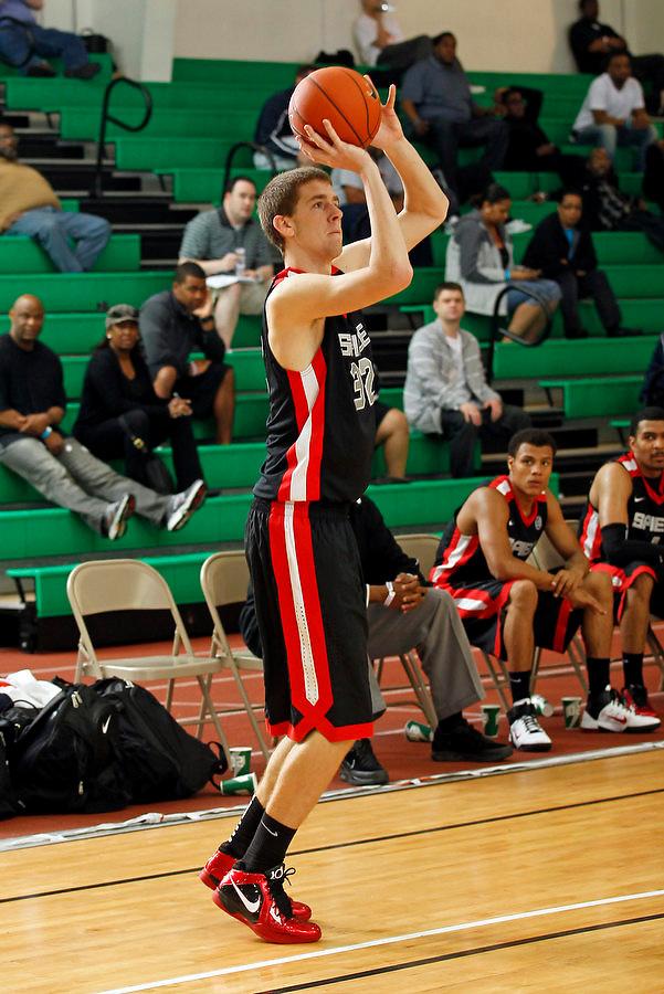 April 9, 2011 - Hampton, VA. USA;  Austin Burgett{ participates in the 2011 Elite Youth Basketball League at the Boo Williams Sports Complex. Photo/Andrew Shurtleff