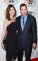 NEW YORK, NY October 01, 2017  Jackie Sandler, Adam Sandler attend 55th New York Film Festival premiere of The Meyerowitz Stories at Alice Tully Hall Lincoln Center in New York October 01,  2017.<br /> CAP/MPI/RW<br /> &copy;RW/MPI/Capital Pictures