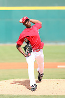 Aroldis Chapman. Cincinnati Reds. Chapman, who left his native Cuba to sign with the Reds, appears in his first spring training game against the Kansas City Royals at Goodyear, AZ - 03/08/2010.Photo by:  Bill Mitchell/Four Seam Images.