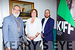 Rev Simon Lumby, Grace Foley at the launch of the Kerry International Film Festival in Randles Hotel on Thursday evening