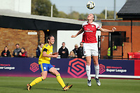 Kerys Harropc of Birmingham City Women and Louise Quinn of Arsenal Women during Arsenal Women vs Birmingham City Ladies, FA Women's Super League Football at Meadow Park on 4th November 2018