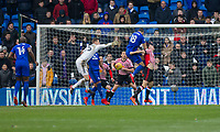 Callum Paterson of Cardiff City scores his side's first goal during the Sky Bet Championship match between Cardiff City and Sunderland at the Cardiff City Stadium, Cardiff, Wales on 13 January 2018. Photo by Mark  Hawkins / PRiME Media Images.