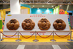 June 14th, 2012: Tokyo, Japan - Anpanman faces by PiNOCCHIO, INC. are displayed during the International Tokyo Toy Show 2012 at Tokyo Big Sight in Tokyo, Japan. This event lasts from June 14th to 17th.  (Photo by Yumeto Yamazaki/AFLO)