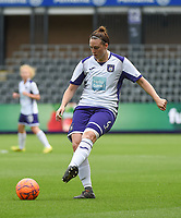 20190813 - ANDERLECHT, BELGIUM : Anderlecht's Britt Vanhamel pictured during the female soccer game between the Belgian RSCA Ladies – Royal Sporting Club Anderlecht Dames  and the Northern Irish Linfield ladies FC , the third and final game for both teams in the Uefa Womens Champions League Qualifying round in group 8 , Tuesday 13 th August 2019 at the Lotto Park Stadium in Anderlecht  , Belgium  .  PHOTO SPORTPIX.BE   DIRK VUYLSTEKE