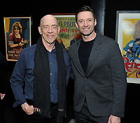 "NEW YORK - DECEMBER 5: L-R: Actors JK Simmons and Hugh Jackman attend a screening of National Geographic Documentary Films ""Free Solo"" at the Walter Reade Theater on December 5, 2018 in New York City. (Photo by Stephen Smith/National Geographic/PictureGroup)"