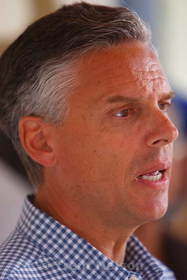 Huntington - Press briefing at the command post for the effort to rescue six coal miners trapped in the Crandall Canyon coal mine.. utah governor jon huntsman