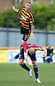 Alloa's Darryl Meggatt goes over the top of Livy's Martin Scott.