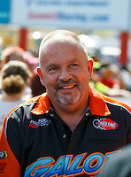 Sep 18, 2016; Concord, NC, USA; NHRA pro mod driver Todd Tutterow during the Carolina Nationals at zMax Dragway. Mandatory Credit: Mark J. Rebilas-USA TODAY Sports