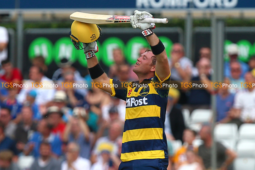 Colin Ingram celebrates scoring a century, 100 runs during Essex Eagles vs Glamorgan, NatWest T20 Blast Cricket at The Cloudfm County Ground on 16th July 2017