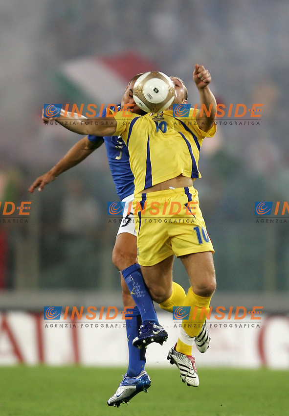 Fabio Cannavaro (Italy), Andriy Voronin (Ucraina)<br /> Uefa Euro 2008 Qualifying Group B<br /> 7 Oct 2006 (match day 3)<br /> Italy-Ukraine 2-0 Italia-Ucraina 2-0<br /> &quot;Olimpico&quot; Stadium-Roma-Italy<br /> Photographer Andrea Staccioli INSIDE