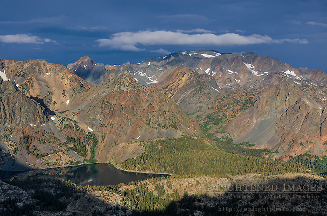 Overlooking the East Lake basin in the Hoover Wilderness, from Kavanaugh Ridge, Humboldt-Toiyabe National Forest, Mono County, Eastern Sierra, California