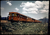 D&amp;RGW #483 K-36 excursion train west of Chama. RMRRC excursion 5-30-66.<br /> D&amp;RGW  w. of Chama, NM  5/30/1966