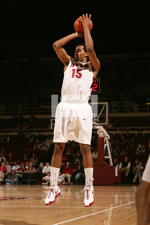 Stanford, CA - NOVEMBER 18:  Forward Lawrence Hill #15 of the Stanford Cardinal during Stanford's 103-85 win against the Cal State Northridge Matadors on November 18, 2008 at Maples Pavilion in Stanford, California.