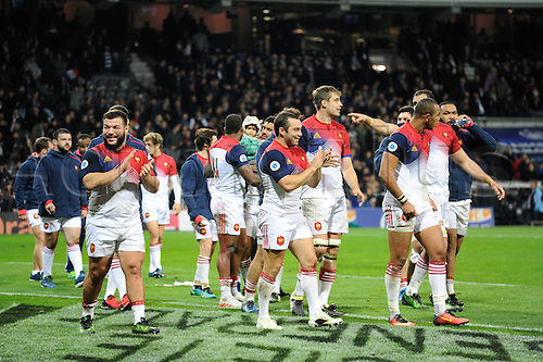 12.11.2016. Stadium Toulouse, Toulouse, France. Autumn International rugby match, France versus Samoa. French team do a lap of honour