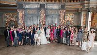 Mariage religieux du Prince Ernst junior de Hanovre et de Ekaterina Malysheva &agrave; l'&eacute;glise Markkirche &agrave; Hanovre.<br /> Allemagne, Hanovre, 8 juillet 2017.<br /> Religious wedding of Prince Ernst Junior of Hanover and Ekaterina Malysheva at the Markkirche church in Hanover.<br /> Germany, Hanover, 8 july 2017<br /> Pic :  Prince Ernst Junior of Hanover &amp; Ekaterina Malysheva &amp; Scott Ambe,<br /> Aglae Prinzessin von Baden,<br /> Sophie Prinzessin von Baden,<br /> Berthold Prinz vonBaden,<br /> Valerie Markgr&auml;fin von Baden,<br /> Max Markgraf von Baden,<br /> ChristinaPrinzessin von Baden,<br /> Michael Prinz von Baden,<br /> Leopold Prinz von Baden,<br /> Karl-Wilhelm  Prinz von Baden,<br /> FriedrichPrinz vonBaden,<br /> LeopoldPrinz vonBaden,<br /> Stephanie Prinzessin von Baden,<br /> BernhardPrinz vonBaden<br /> CharlotteCasiraghi,<br /> BeatriceCasiraghi,<br /> PierreCasiraghi,<br /> TatianaCasiraghi,<br /> AndreaCasiraghi,<br /> Paraja Rodriguez Gabriel,<br /> Scott Gioconda,<br /> Marie-Chantal Kronprinzessin von Griechenland,<br /> PavlosKronprinz von Griechenland,<br /> OlympiaPrinzessin von Griechenland,<br /> Constantine Prinz von Griechenland,<br /> Otto Prinz von Hannover,<br /> Julius Prinz von Hannover,<br /> Albert Prinz von Hannover,<br /> Thyra Prinzessin von Hannover,<br /> Heinrich Prinz vonHannover,<br /> Olga Prinzessin von Hannover,<br /> Alexandra Prinzessin von Hannover,<br /> ChantalPrinzessin von Hannover,<br /> ChristianPrinz vonHannover,<br /> EkaterinaPrinzessin von Hannover,<br /> Ernst August Prinz von Hannover,<br /> Marie Gr&auml;fin von Hochberg,<br /> Ferdinand Freiherr von Humboldt,<br /> ChristianFreiherr von Humboldt-Dachroeden,<br /> Marie Freifrau von Humboldt-Dachroeden,<br /> Isabelle Prinzessin zu Leiningen,<br /> Olga Prinzessin zu Leiningen,<br /> HermannPrinz zuLeiningen,<br /> Ferdinand Prinz zuLeiningen,<br /> Alexandra F&uuml;rstin zu Leiningen,<br /> AndreasF&uuml;rst zuLeiningen,<br /> 
