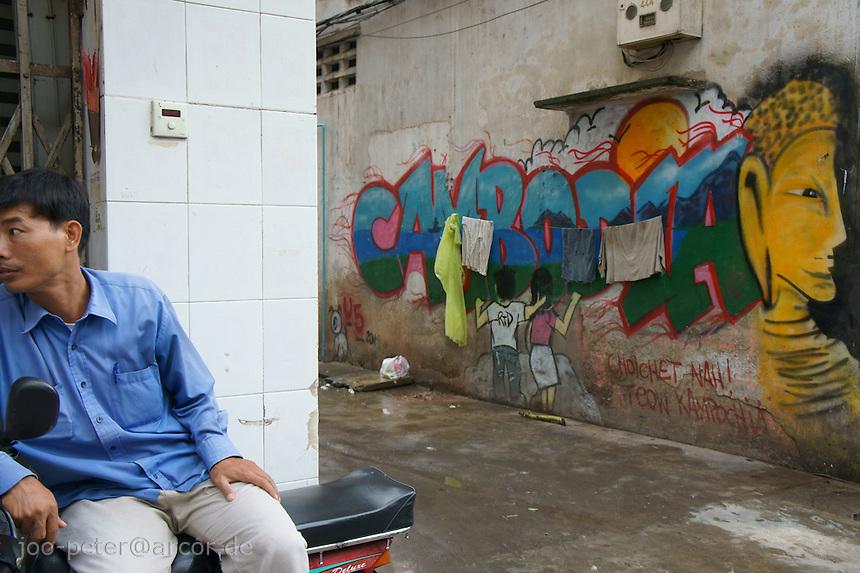 graffity CAMBODIA in streets Phnom Penh, Cambodia, August 2011