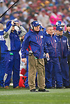 New York Giants Head Coach Tom Coughlin looks on during an NFC Championship NFL football game against the San Francisco 49ers on January 22, 2012 in San Francisco, California. The Giants won 20-17 in overtime. (AP Photo/David Stluka)