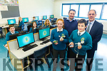 Mercy mounthawk open their new Computer Lab. Pictured front Roise O'Donnell and Janes Russel with ICT Teacher, Will Nolan, and Deputy Principal Pat Fleming, Back Aaron Day, Roisin Reidy, Geraldine Cassidy, Aoife Burke and Conor O'Regan