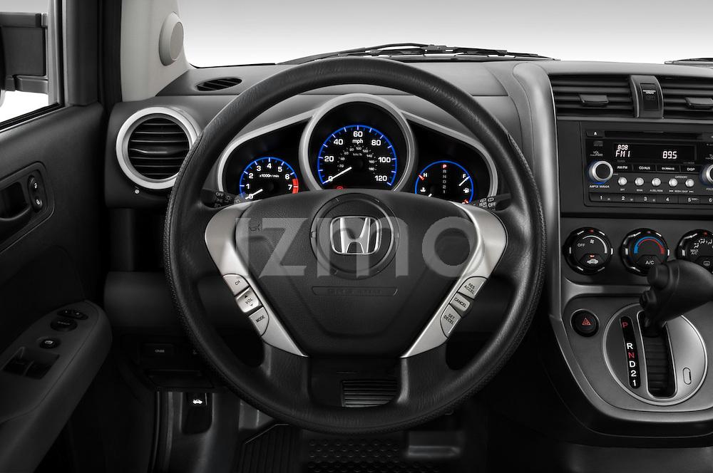 Steering wheel view of a 2008 Honda Element EX SUV