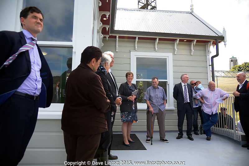 Official opening of Wes Armstrong Groundsman's Cottage at the Hawkins Basin Reserve, Wellington, New Zealand on Wednesday, 25 November 2015. Photo: Dave Lintott / lintottphoto.co.nz