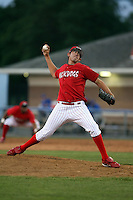 June 18th 2008:  Pitcher Ramon Delgado of the Batavia Muckdogs, Class-A affiliate of the St. Louis Cardinals, during a game at Dwyer Stadium in Batavia, NY.  Photo by:  Mike Janes/Four Seam Images