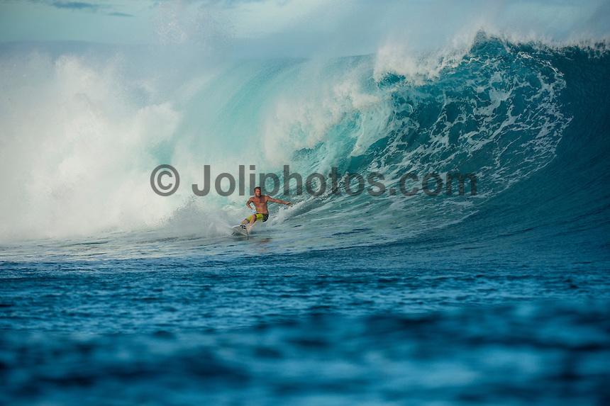 CLOUDBREAK, Namotu Island/Fiji (Wednesday, June 12, 2013) - Taj Burrow (AUS)  surfing Cloudbreak.<br /> Photo: joliphotos.com