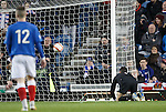 Neil ALexander looks back in horror as David Gray's shot hits the back of his net