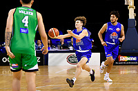 Saints' Finn McClure in action during the NBL - Cigna Saints v Manawatu Jets at TSB Bank Arena, Wellington, New Zealand on Sunday 30 June 2019. <br /> Photo by Masanori Udagawa. <br /> www.photowellington.photoshelter.com