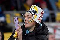 Fan during the Super Rugby - Hurricanes v Blues at Westpac Stadium, Wellington, New Zealand on Saturday 7 July 2018.<br /> Photo by Masanori Udagawa. <br /> www.photowellington.photoshelter.com