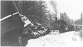 Leased D&amp;RGW C-18 #318 arrives to rescue leased D&amp;RGW #464 which is derailed near Gradens, w. of Mancos on the RGS.<br /> RGS    Taken by Croonenberghs, Leo - 12/24/1944