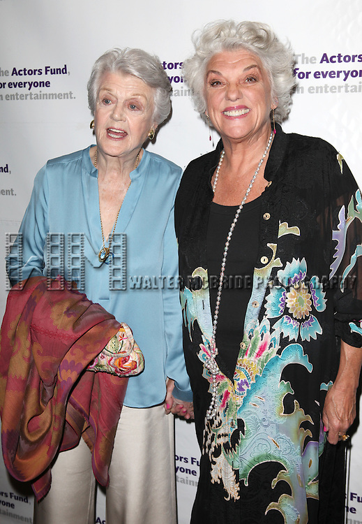 Angela Lansbury & Tyne Daly.attending the Actors Fund Gala honoring Harry Belafonte, Jerry Stiller, Anne Meara & David Steiner at the Mariott Marquis Hotel in New York City on 5/21/12