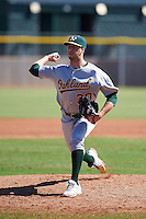 Oakland Athletics pitcher Marc Berube (30) during an instructional league game against the Los Angeles Angels on October 9, 2015 at the Tempe Diablo Stadium Complex in Tempe, Arizona.  (Mike Janes/Four Seam Images)