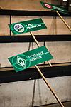 07.01.2018, Deutsches Fu&szlig;ballmuseum, Dortmund, GER, Auslosung DFB Pokal Viertelfinale, , <br /> <br /> im Bild | picture shows<br /> Schild mit dem Logo des SV Werder Bremen<br /> <br /> Foto &copy; nordphoto / Rauch