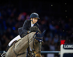 Jane Richard Philips on Dieudonne de Guldenboom competes during the AirbusTrophy at the Longines Masters of Hong Kong on 20 February 2016 at the Asia World Expo in Hong Kong, China. Photo by Juan Manuel Serrano / Power Sport Images