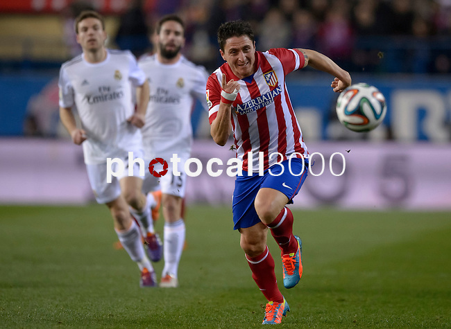 Atletico Madrid's Uruguayan midfielder Cristian Rodriguez XXXX during the Spanish Copa del Rey (King's Cup) semifinal second-leg football match Club Atletico de Madrid vs Real Madrid CF at the Vicente Calderon stadium in Madrid on February 11, 2014.   PHOTOCALL3000/ DP