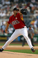 July 9, 2006:  Jason Hirsh of the Houston Astros organization delivers a pitch while playing for the USA team in the Future's Game at PNC Park in Pittsburgh, PA.  Hirsh was traded to the Colorado Rockies after the 2006 season.  Photo by:  Bill Mitchell/Four Seam Images