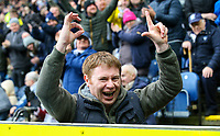 A Preston North End fan taunts Blackburn Rovers fans<br /> <br /> Photographer Alex Dodd/CameraSport<br /> <br /> The EFL Sky Bet Championship - Blackburn Rovers v Preston North End - Saturday 9th March 2019 - Ewood Park - Blackburn<br /> <br /> World Copyright © 2019 CameraSport. All rights reserved. 43 Linden Ave. Countesthorpe. Leicester. England. LE8 5PG - Tel: +44 (0) 116 277 4147 - admin@camerasport.com - www.camerasport.com
