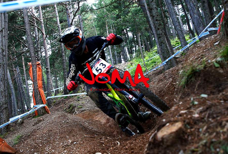 Charly Dipasquale (FRA)Downhill training sesion, UCI, Moutain Bike World Cup , Vallnord Andorra. 12/07/2018